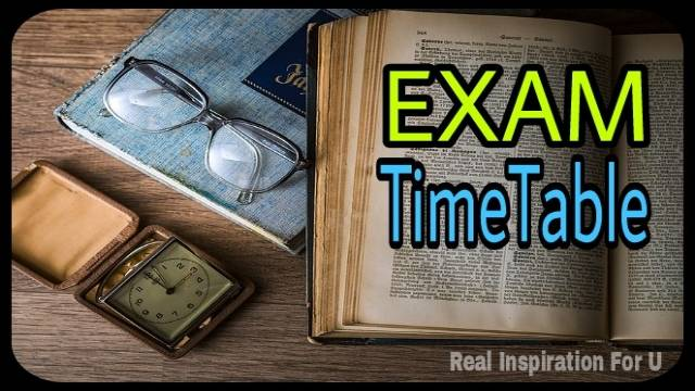 How To Make Board Exam Time Table